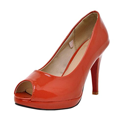 Pumps TAOFFEN Red Women Slip On tHqH7g