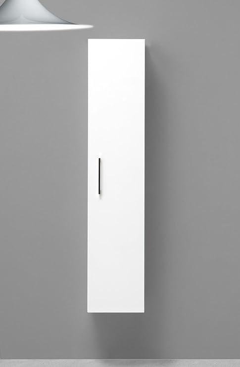 Mobile colonna sospesa bagno moderno color rovere scuro | KV Store