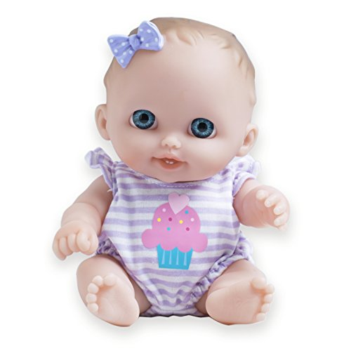 JC Toys Lil Cutesies All Vinyl Washable Doll Baby Doll, Blue Eyes - Girl Baby Doll Vinyl