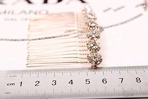 Letshopping High Grade Alloy Diamond Tiara Comb Hair Accessories Hair Fork2pc