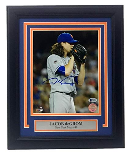 Jacob DeGrom Signed Framed 8x10 New York Mets 2015 World Series Stare Photo BAS