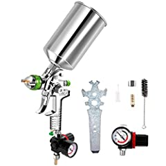 DescriptionOur fully atomization spray gun makes it easier for you to finish painting.Manufactured with stainless steel and aluminum cup, this HVLP gun is durable and corrosion resisting. As for painting effect, you can improve the accuracy o...