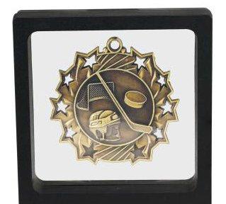 41qiDv8ub L - Black Challenge Coin / Medal Illusion Presentation Box by Decade Awards