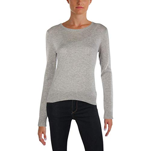 Juicy Couture Ribbed - Juicy Couture Black Label Womens Cashmere Ribbed Trim Pullover Sweater Gray L