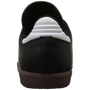 adidas Men's Samba Classic Soccer Shoe,Black/Running White,12 M US