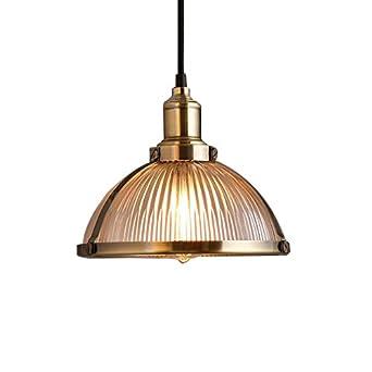 Glighone Lámpara de Techo Luz Vintage 40W Lámpara Industrial Luz Colgante de Pantalla de Metal Estilo Rústico Casquillo E27 No Incluye Bombilla para ...