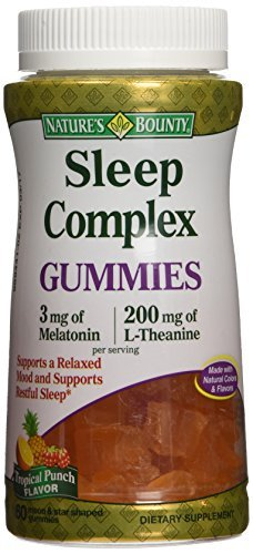 Amazon.com : Natures Bounty Sleep Complex 3 mg Melatonin/200 mg L ...