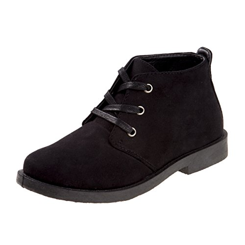 - Joseph Allen Boys Desert Chukka Work Boot, Black Suede, Size 2'