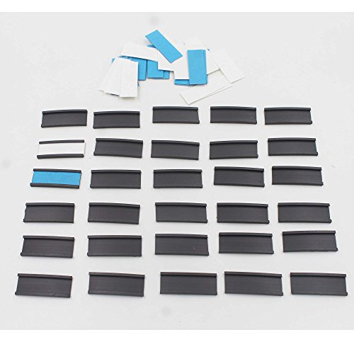 30 Magnetic Data Card Holders Lineup Tabs (0.5 x 1.5 Inches) – Magnetic Label C-Channel Shelf Labels - with 30 White Precut Cards and 30 Blue precut (Labels Baseball)