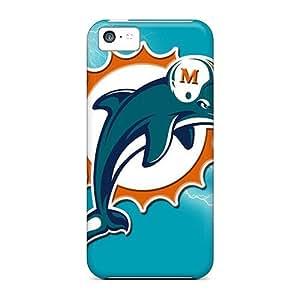 New Premium Flip Case Cover Miami Dolphins Skin Case For Iphone 5c