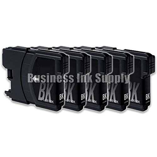 JS 5 Black LC61 Ink Cartridges for Brother MFC-290C MFC-2...