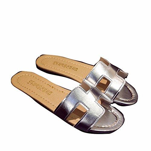 YUCH Zapatillas De Mujer Antiresbaladiza Home Flats Sandalias yin