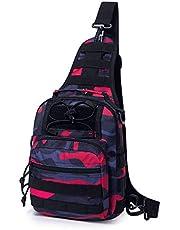 Mardingtop Leichte Brusttasche Umhängetasche Schultertasche Cross Bag Schleuder Tasche Sling Rucksack Outdoor Sporttasche zum Wandern Radfahren Reisen