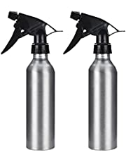 Mobestech 2pcs Aluminium Alloy Empty Spray Bottles Trigger Water Sprayers Multipurpose Refillable Liquid Containers for Water Cleaning Products Essential Oil 250ml (Silver)