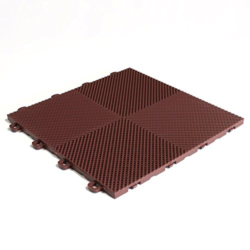 Brown Block Tile B2US5230 Multi-Purpose Drain Tiles Perforated Pattern (Patio Block Install Concrete)