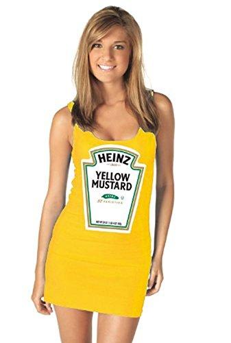 Heinz Mustard Gold Juniors Tank Dress (Juniors Large) (Ketchup And Mustard Costume)