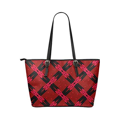 Crossbody lunchväska konst kreativ abstrakt modern rutnät linje läder handväskor väska orsaksala handväskor dragkedja axel organiserare för dam flickor kvinnor axelväska
