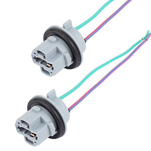 TOMALL 7440 T20 Sockets Female Adapter for Turn Signal/Reverse Light Bulbs Socket (Pack of 2)