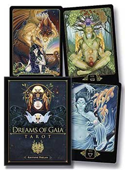 Raven Blackwood Imports Fortune Telling Tarot Cards Dreams Gaia Deck Inspire Yourself Seek by Ravynne Phelan by Raven Blackwood Imports