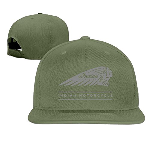 American Indian motocicleta Gorra de béisbol Hip Hop sombrero negro (5colores) Verde