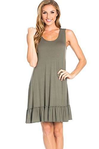 Dress Items - Azules Women's Ruffle Sundress, X-Large, Light