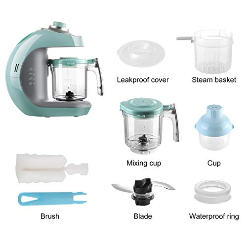 41qiH0NNtkL - Maxkare Baby Food Maker 8 In 1 Meal Station For Toddlers With Steam,Blend,Juice,Warm,Puree,Chop,Disinfect,Clean Function, 20 Oz Tritan Stirring Cup,Built In Timer,Steam Cooker And Blender Processor