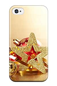 Durable Christmas Accessories Cute Back Case/cover For Iphone 4/4s