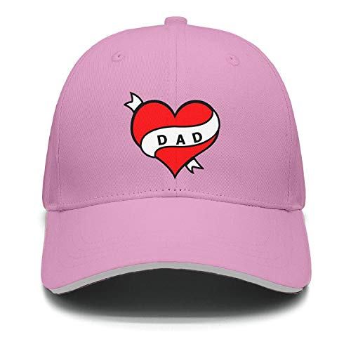 Unisex Trucker Hat Dad Heart Tatoo Mens Baseball Cap ()