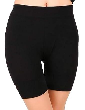 8b9b34de5fb Keaac Women's Underwear Chafing Cotton Boyshorts Bike Long Leg Multipack  Black XXS