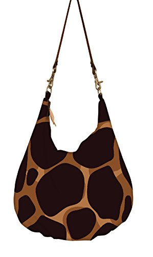 Snoogg Giraffe Pattern Hobo, Ethnic Hobo Bag, Aztec Hobo Bag, Native Style Bag, Large Hobo Bag, Zipper Closure Bag, Large Shoulder Bag, Tribal Bag