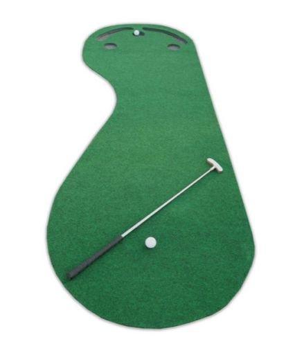PUTT-A-BOUT Par 3 Holes Practice Putting Green Indoor Golf Mat Training Aid Equipment