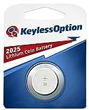 KeylessOption 2025 Battery Long Lasting 3v Lithium for Keyless Entry Remote Smart Key Fob Alarm Head Flip Keys CR2025