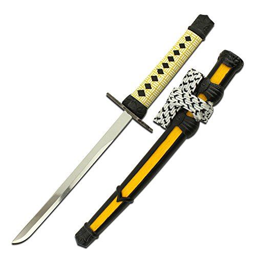 - BoujeeGadgets Samurai Sword Letter Opener with Yellow Cord Wrapped Handle and Black & Yellow Scabbard 8