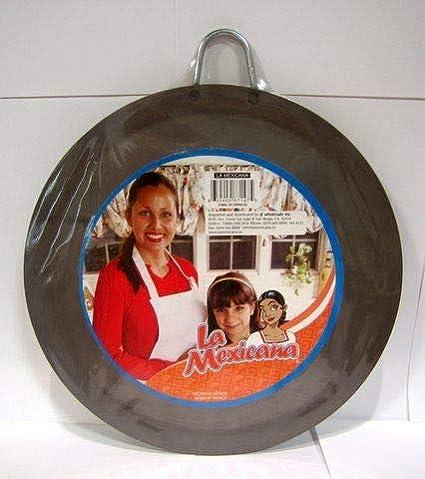 """Rondes en acier inoxydable petit Comal 11.5/"""" Silver Heavy Duty Tortillas crêpes pan"""