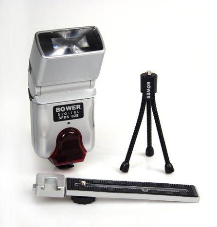 Bower SFD328 Digital Automatic Shoe-Mount Slave Flash for Canon, Minolta, Nikon, Olympus, Pentax, Sony and Samsung (Black)