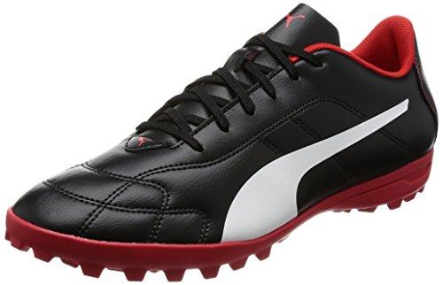 Pumas Hommes C Tt Classico Chaussures De Football, Noir / Blanc Rouge, (noir-blanc Haut Risque Rouge)