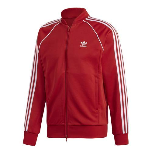 (adidas Originals Men's Superstar Track Jacket, Power red, X-Small)