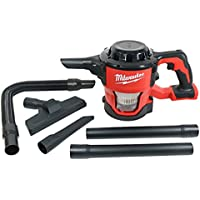 Milwaukee 0882-20 M18 Lithium Ion Cordless Compact 40 CFM Hand Held Vacuum w/ Hose Attachments and Accessories (Batteries Not Included, Power Tool Only)