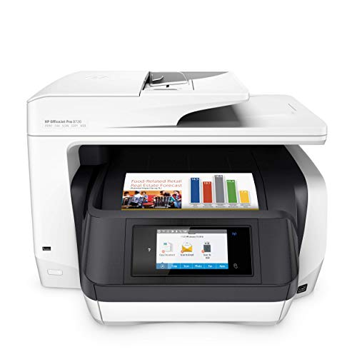 HP OfficeJet Pro 8720 All-in-One Wireless Printer, HP Instant Ink & Amazon Dash Replenishment ready - White (M9L75A) ()