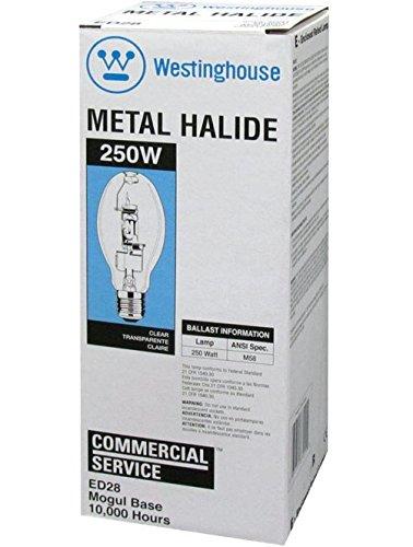 Westinghouse 3702100 Ed28 Hid Metal Halide Light Bulb, 250 Watts (Pack of 6)