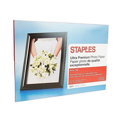 - Staples 564123 Ultra Premium Matte Photo Paper 13