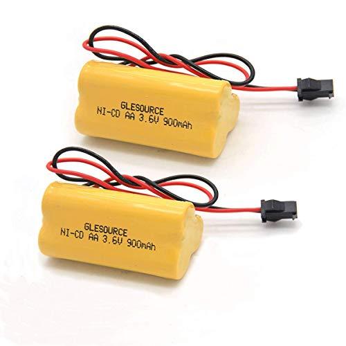 GLESOURCE 3.6V 900mAh Emergency/Exit Light Battery Compatible for Lithonia ELB B001 ELBB001 ELB-B001 Lithonia EU2 LED Interstate ANIC1566 Unitech 0253799(2 Pack)