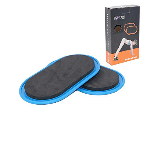 Fashionwu 2pcs Gliding Discs Core Sliders Whole-body Coordination Abdominal Exercise Equipment