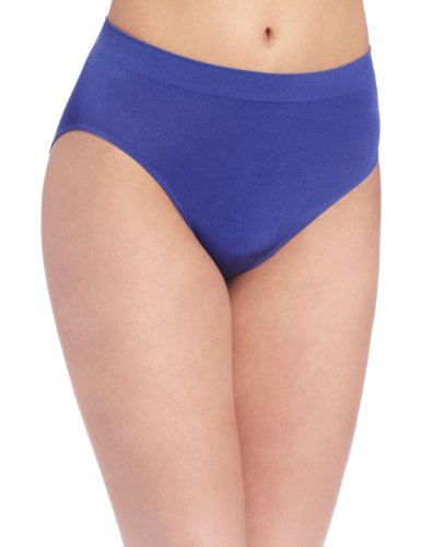 Wacoal Women's B-Smooth Hi Cut Panty Brief Panty, Deep Ultramarine, Small