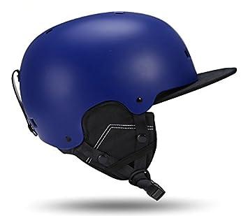 Casco de esquí para hombre y mujer adulto ligero casco de doble chapado esquí equipo de
