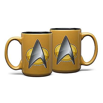8c8fa647237 Amazon.com: Star Trek Next Gen Mugs - Sciences (Yellow): Kitchen ...