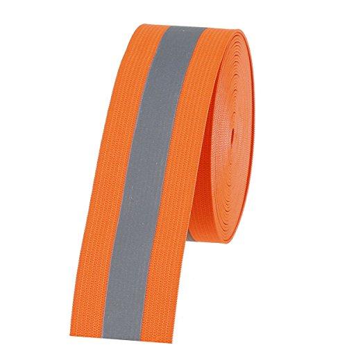 COTOWIN Orange Reflective Elastic,1.5 Wide 5 Yards