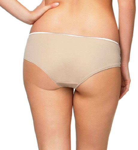 Cake Lingerie Women's Maternity Croissant Brief Panty,Nude,Large