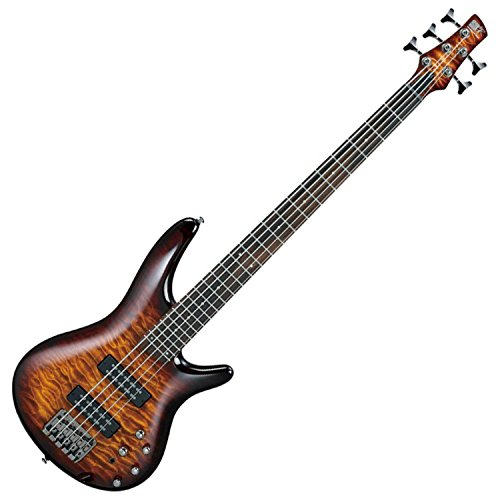 Ibanez SR405EQM 5-String Electric Bass Guitar (Dragon Eye Burst) (Quilt String Guitar Bass Top)
