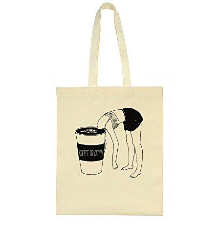 Design Death Funny Coffee Bag Or Tote 1FB6nxtw